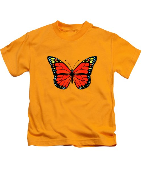 Red Butterfly Kids T-Shirt