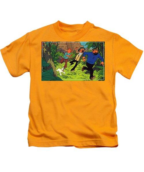 The Adventures Of Tintin Kids T-Shirt