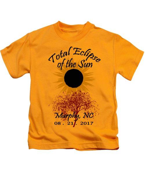 Total Eclipse T-shirt Art Murphy Nc Kids T-Shirt