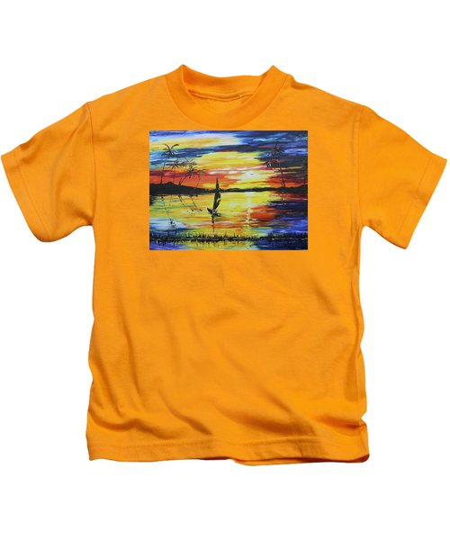 Tropical Sunset Kids T-Shirt