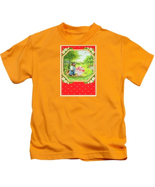 Valentine Delivery Kids T-Shirt by Lynn Bywaters