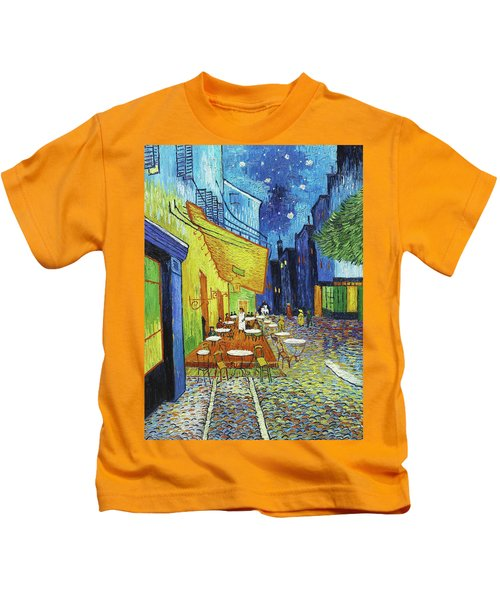 Cafe Terrace At Night Kids T-Shirt