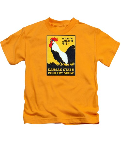 1915 Kansas Poultry Fair Kids T-Shirt by Historic Image
