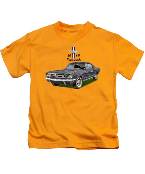 Mustang Fastback 1965 Kids T-Shirt