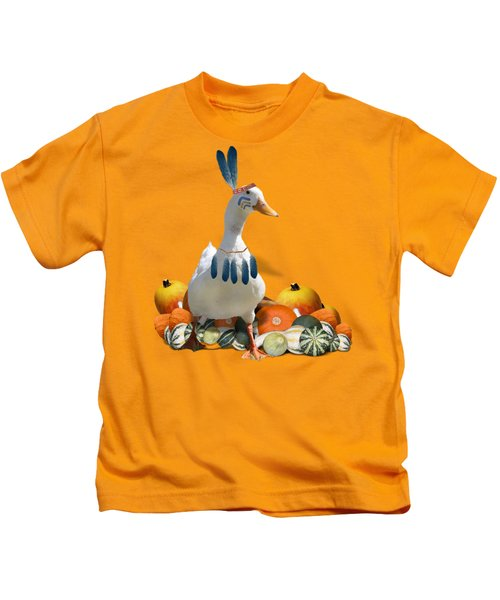 Indian Duck Kids T-Shirt by Gravityx9 Designs