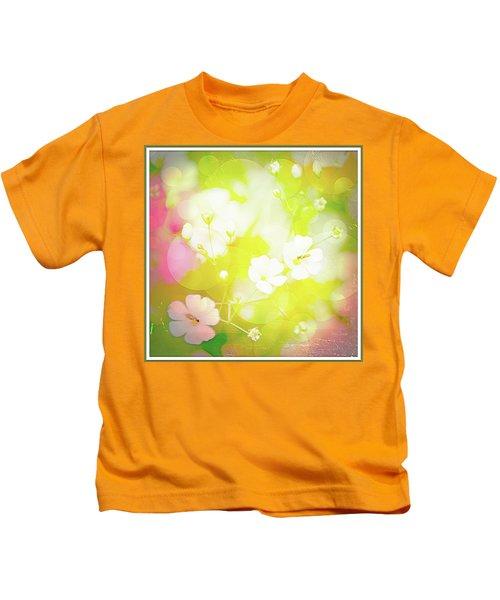 Summer Flowers, Baby's Breath, Digital Art Kids T-Shirt