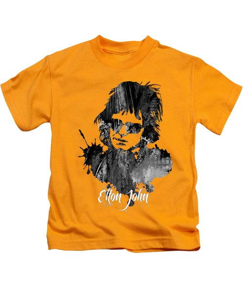 Elton John Collection Kids T-Shirt by Marvin Blaine
