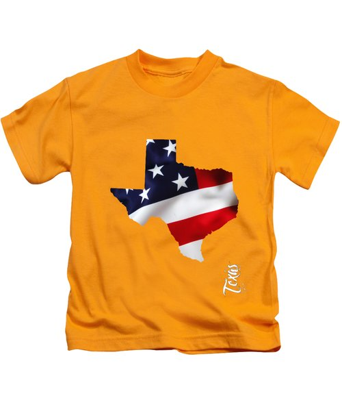 Texas State Map Collection Kids T-Shirt