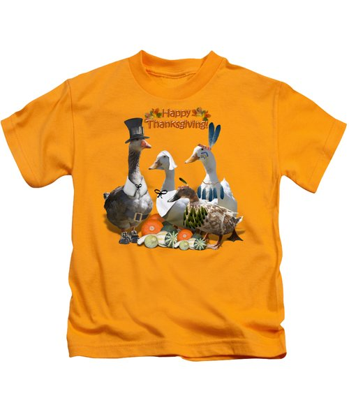 Thanksgiving Ducks Kids T-Shirt
