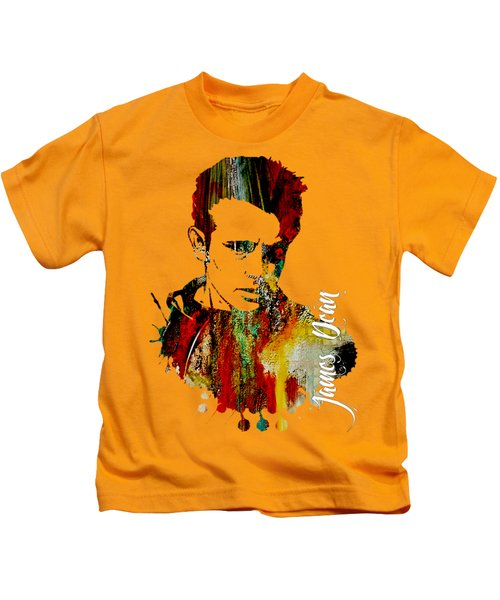 James Dean Collection Kids T-Shirt by Marvin Blaine