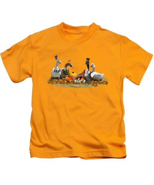 Thanksgiving Ducks Kids T-Shirt
