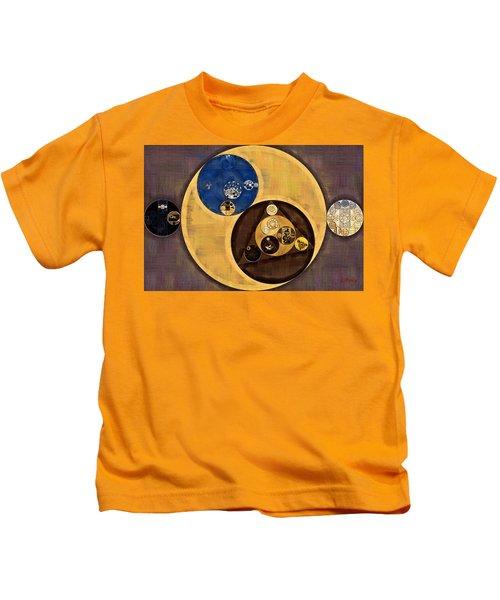 Abstract Painting - Zinnwaldite Brown Kids T-Shirt