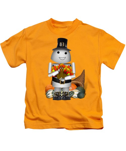 Robo-x9 The Pilgrim Kids T-Shirt