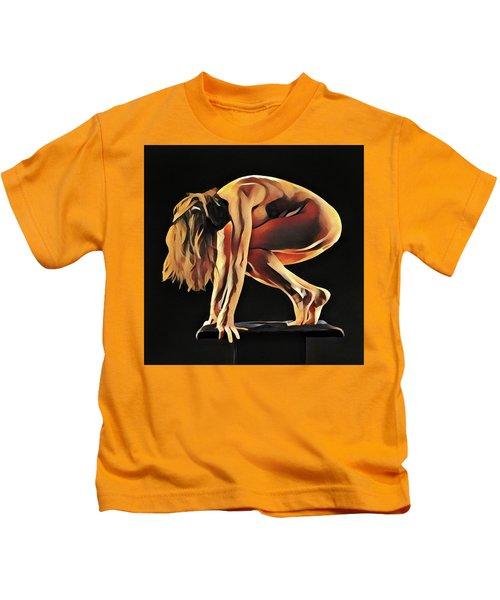 7188s-amg Nude Watercolor Of Sensual Mature Woman Kids T-Shirt