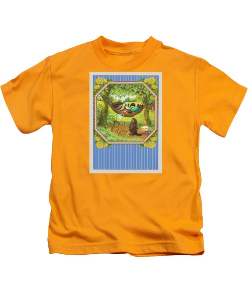 A Father's Day Treat Kids T-Shirt by Lynn Bywaters