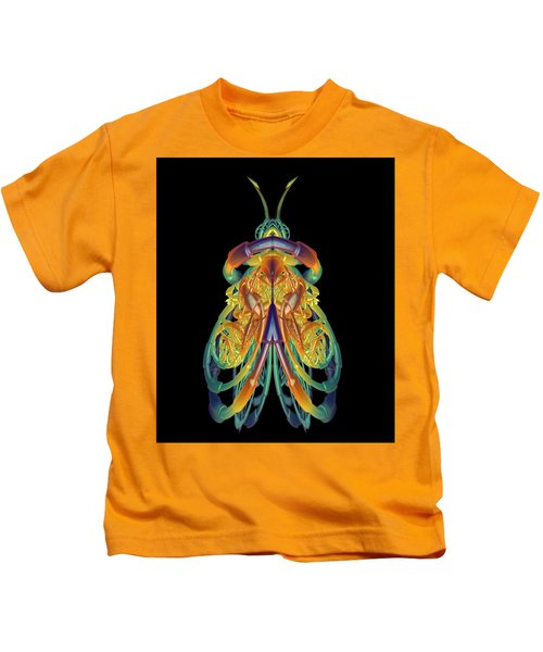 A Fractal Bug Kids T-Shirt