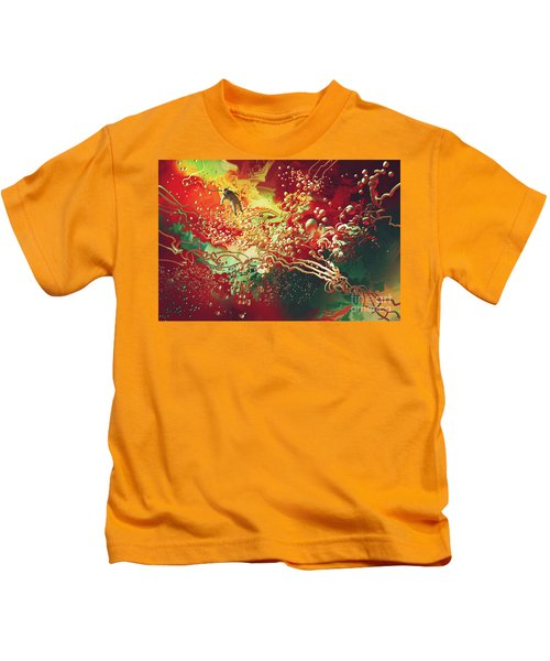Abstract Space Kids T-Shirt