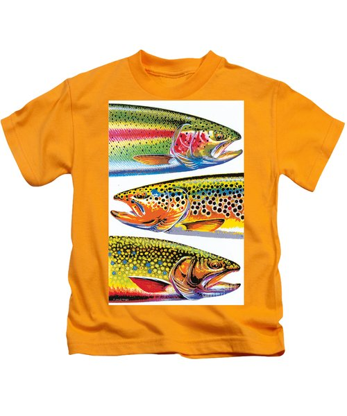 Abstract Trout Kids T-Shirt