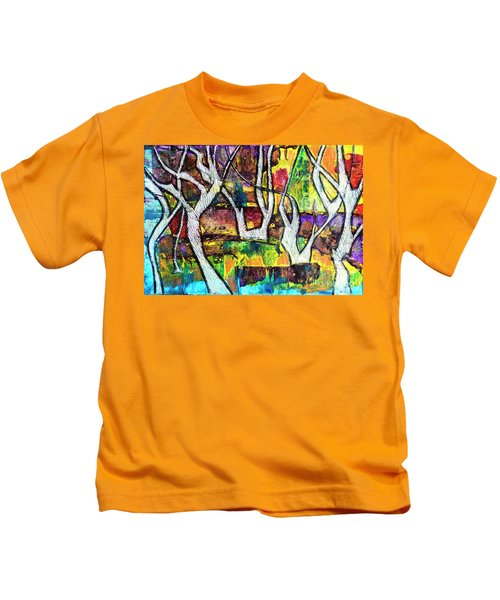 Acrylic Forest  Kids T-Shirt
