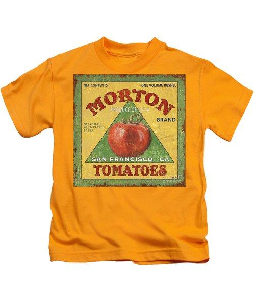 American Veggies 2 Kids T-Shirt by Debbie DeWitt