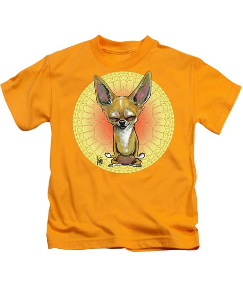 Meditating Chihuahua Kids T-Shirt