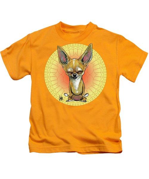 Meditating Chihuahua Kids T-Shirt
