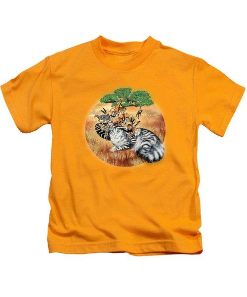Cat In The Safari Hat Kids T-Shirt