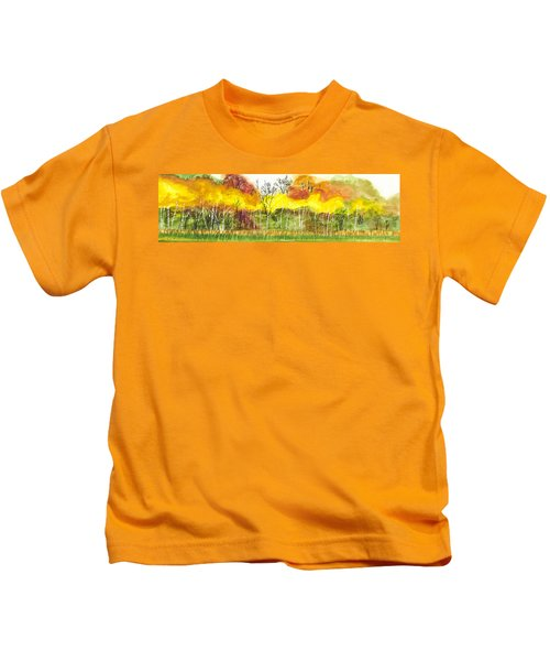 Aspen Trees In Autumn Kids T-Shirt