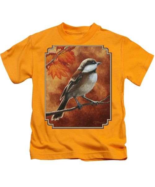 Autumn Chickadee Kids T-Shirt