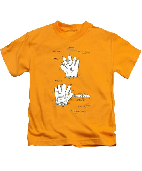 Baseball Glove 1921 Patent Kids T-Shirt