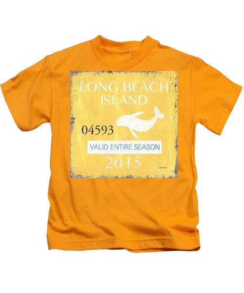 Beach Badge Long Beach Island Kids T-Shirt