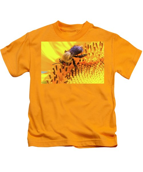 Bee And Sunflower Kids T-Shirt