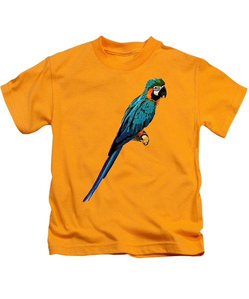 Blue Parrot Art Kids T-Shirt