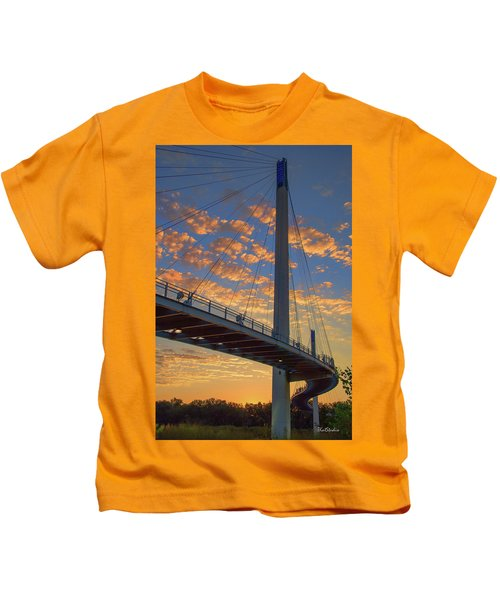 Bob Kerry Bridge At Sunrise Kids T-Shirt