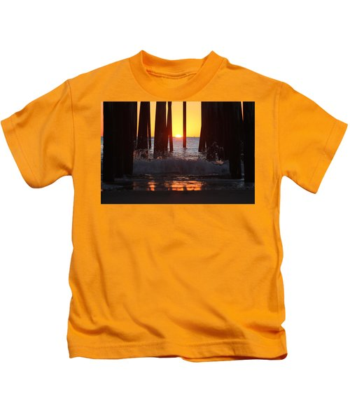 Breaking Dawn At The Pier Kids T-Shirt