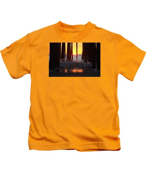 Breaking Dawn At The Pier Kids T-Shirt