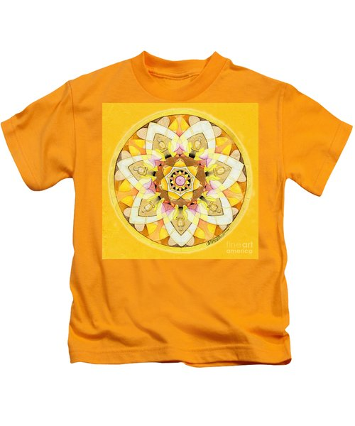 Buddha Sun Mandala Kids T-Shirt
