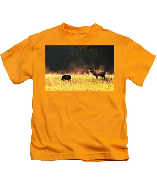 Bull With His Girl Kids T-Shirt
