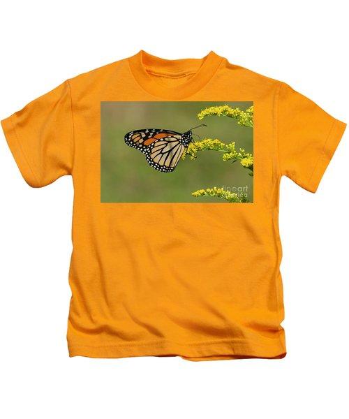 Butterfly On Flowers Kids T-Shirt
