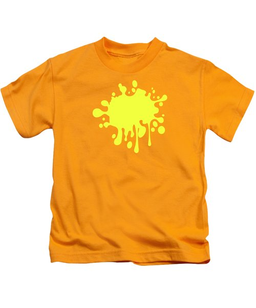 Canary Yellow Solid Color Decor Kids T-Shirt by Garaga Designs