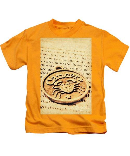 Cancer Star Sign Art Kids T-Shirt