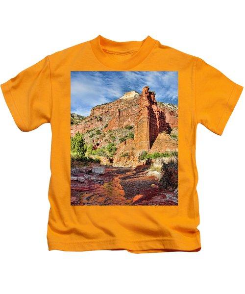 Caprock Canyon Cliff Kids T-Shirt