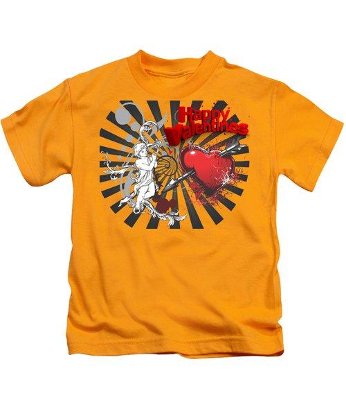 Card Valentine Cherub Kids T-Shirt