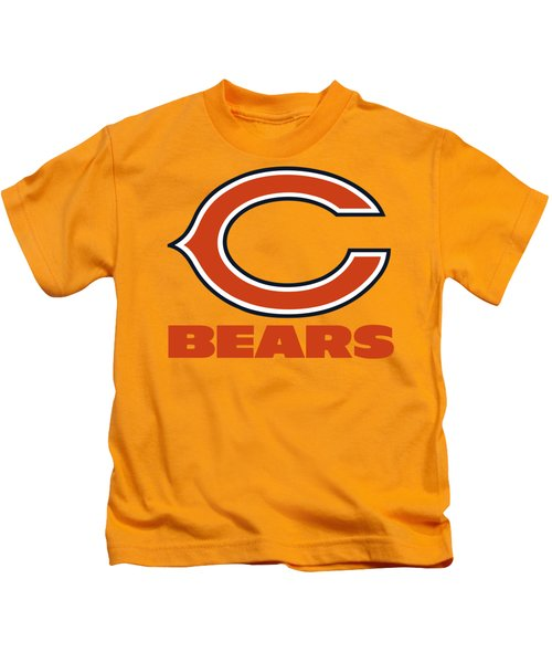 Chicago Bears On An Abraded Steel Texture Kids T-Shirt