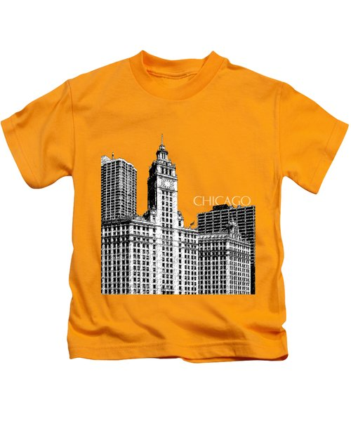 Chicago Wrigley Building - Salmon Kids T-Shirt
