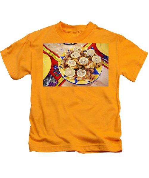 Chicken With Lemon Kids T-Shirt