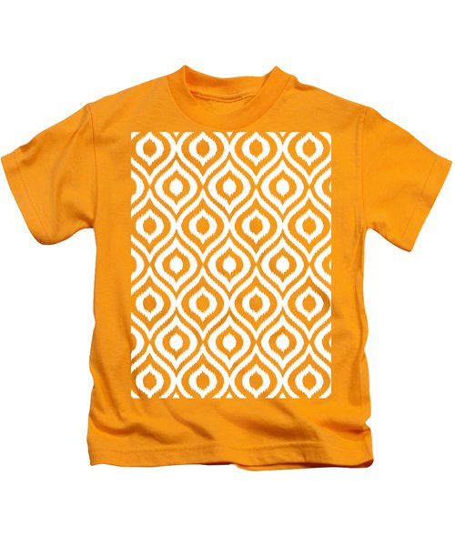 Circle And Oval Ikat In White N05-p0100 Kids T-Shirt