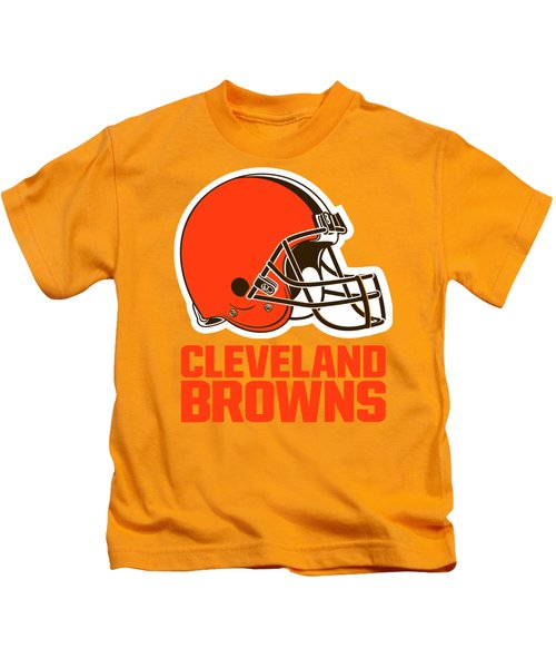 Cleveland Browns On An Abraded Steel Texture Kids T-Shirt