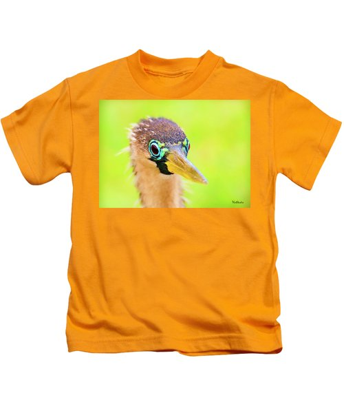 Colorful Female Anhinga Kids T-Shirt