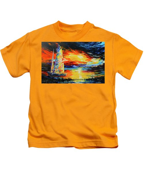 Colorful Sail Kids T-Shirt